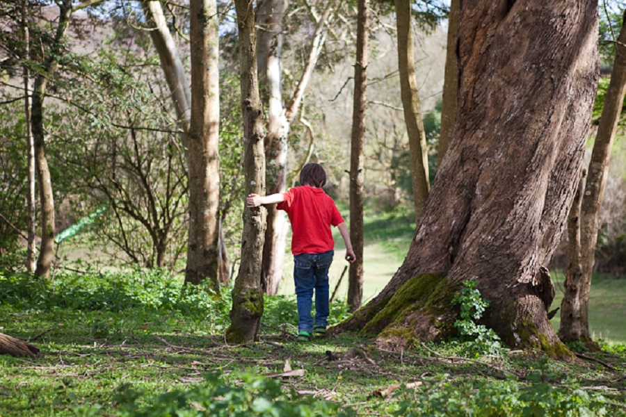Woods are a perfect place for spring scavenger hunts