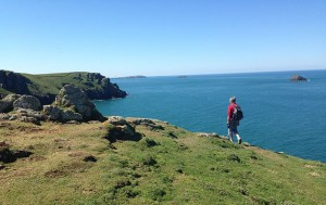 South West Coast Path walker