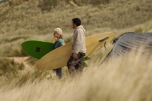 Surfers camping