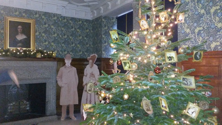 Lanhydrock House decorated for Christmas