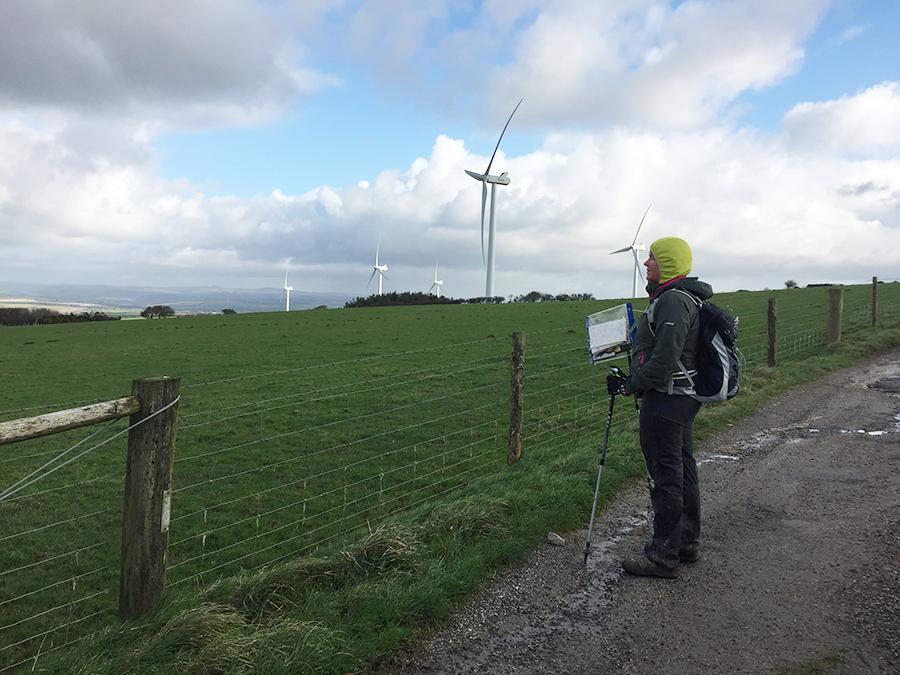 S Breok Downs wind farm