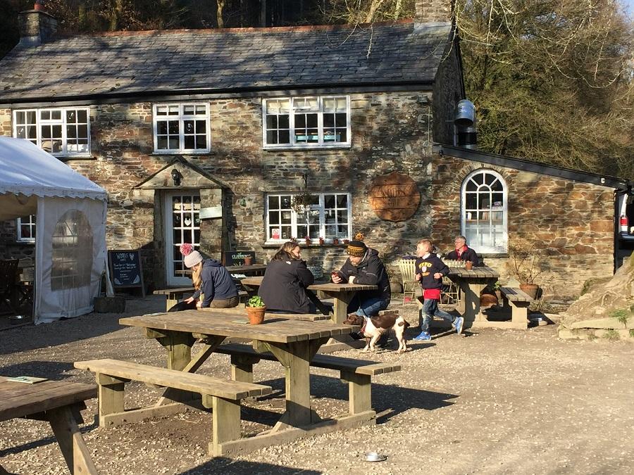The Woods cafe at Cardinham Woods