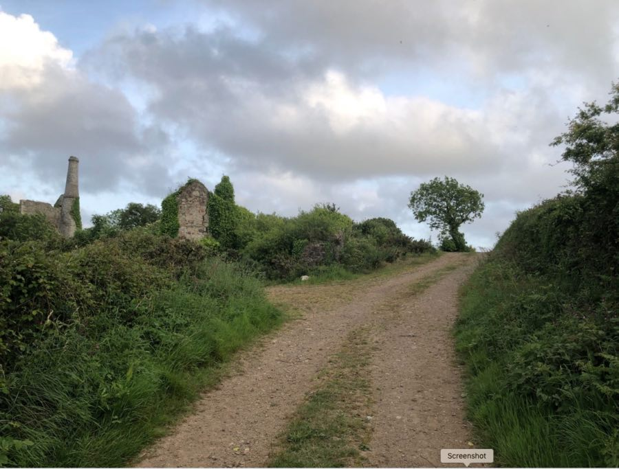 Walk along the old mining trail