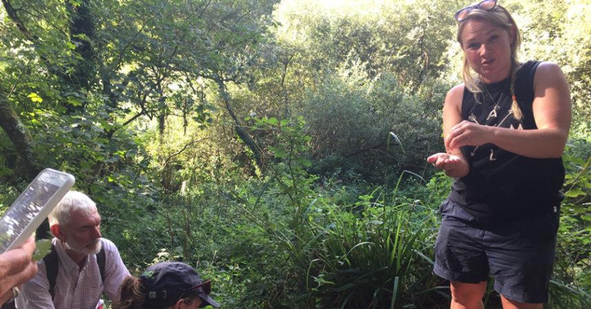 Emma Gunn of Never Mind the Burdocks giving advice on foraging