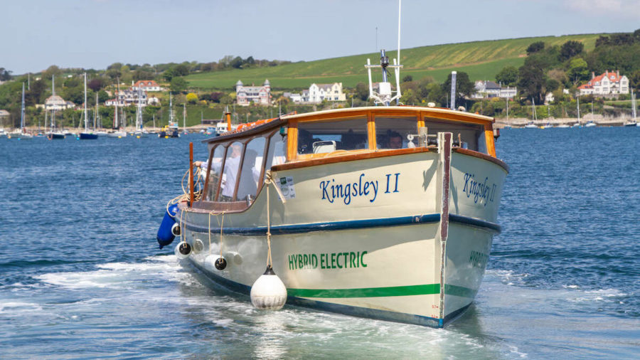 The new hybrid electric ferry The Kingsley by FalRiver boats