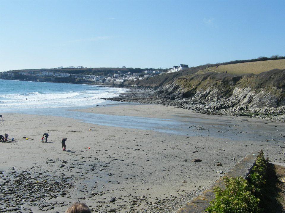 Porthcurnick beach in Cornwall