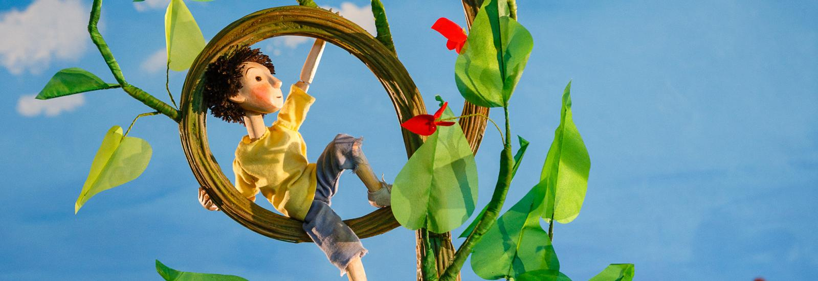 The Magic Beanstalk puppet show will be presented at The Eden Project