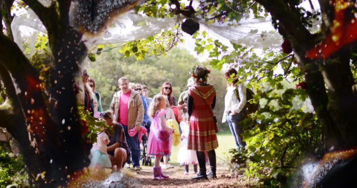 Rogue Theatre perform at Tehidy woods in Cornwall