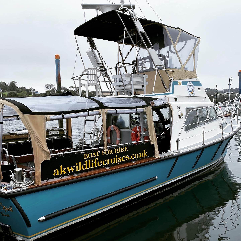 AK Cruises sea safari boat in Falmouth